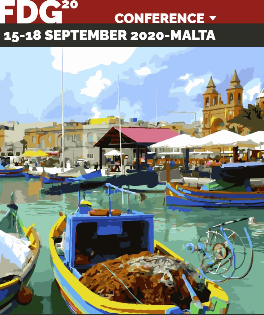 FDG 2020 conference, Malta